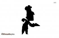 Cartoon Chef Silhouette Clipart