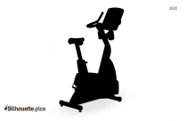Black And White Fitness Cycle Equipment Silhouette