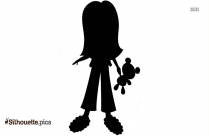 Cartoon Girl Silhouette Drawing Image