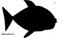 Tropical Fish Silhouette Image Vector