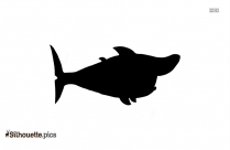 Shark And Man Clipart Silhouette