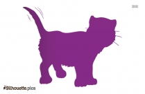Sitting Cat Silhouette Background