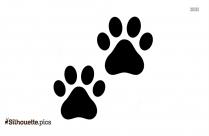 Cartoon Cat Paws Silhouette Image