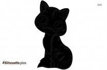 Free Cartoon Cat Silhouette Image