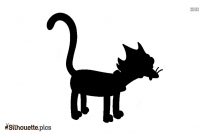 Cat Sitting Silhouette Drawing Vector