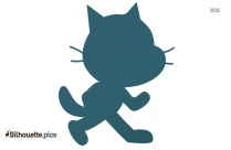 Big Cat Standing Silhouette Illustration