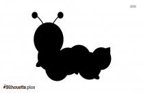 Cartoon Caterpillar Cartoon Silhouette