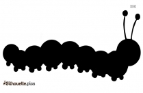Cartoon Caterpillar Silhouette Clipart Image