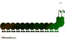 Cartoon Caterpillar Silhouette Clipart Vector