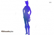 Cartoon Catwoman Drawing Silhouette