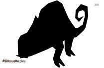 Cartoon Chameleon Silhouette Picture