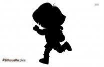 Cartoon Character Dora Running Silhouette