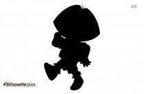Dora Running Silhouette