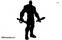 Cartoon Character Groot Silhouette