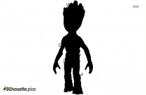 Character Groot Silhouette Free Vector Art