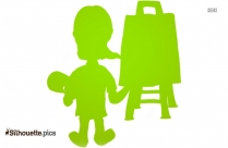 Cartoon Character Painting Blank Slate Silhouette