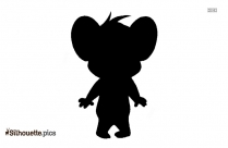 Black Jerry Mouse Silhouette Image