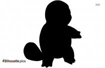 Charmander Silhouette, Pokemon Character Vector