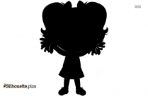 Cartoon Cheerleader Silhouette Image And Vector