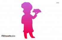 Cartoon Chef Silhouette Art