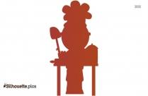 Cartoon Chef Silhouette Free Vector Art