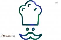 Cartoon Chef Girl Silhouette