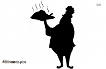 Cartoon Chef Chicken Silhouette Image And Vector