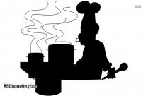 Cartoon Chef Hat Symbol Silhouette