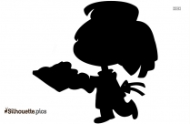 Cartoon Chef Silhouette Vector