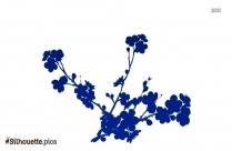 Plum Blossom Tree Symbol Silhouette