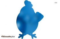 Cartoon Chicken Silhouette Image And Vector Illustration