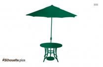 Cartoon Chinese Umbrella Silhouette