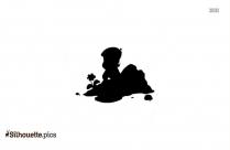 Chota Bheem Cartoon Characters Silhouette