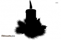 Black Christmas Candles Silhouette Image