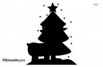 Cartoon Christmas Tree Silhouette