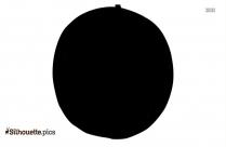 Cartoon Cider Apple Silhouette