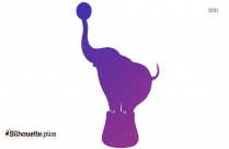 Circus Elephant Logo Silhouette For Download