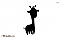 Cartoon Circus Giraffe Silhouette Illustration