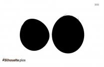 Cartoon Coconut Silhouette Clip Art