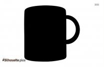 Tea Mug In Black And White Silhouette