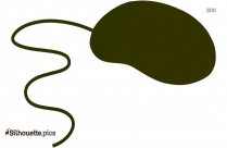 Cartoon Computer Mouse Silhouette