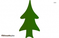 Cone Shaped Pine Tree Silhouette Illustration