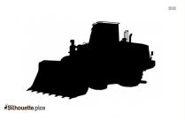 Cartoon Construction Vehicle Silhouette