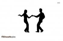 Cartoon Couple Dancing Silhouette Image