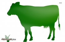 Cartoon Cow Drawing Silhouette