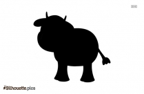 Funny Cartoon Cow Animal Silhouette Clipart