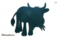 Cartoon Cow Silhouette Picture, Vector Art