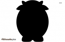 Cartoon Cow Silhouette Drawing Picture