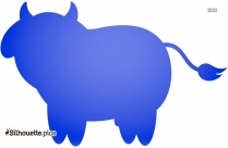Cartoon Cow Silhouette Free Vector Illustration