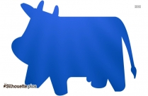 Weird Cow Silhouette Clip Art